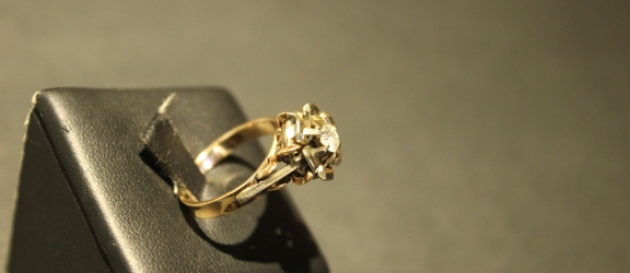 Anello Vintage anni'20 con Diamante [VENDUTO]